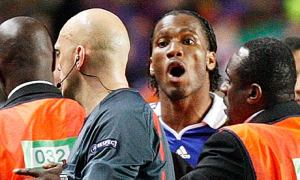 Drogba furious with Referee Ovrebo in London